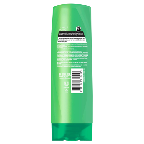 A bottle of Strong and Long Conditioner 180ml back of pack image